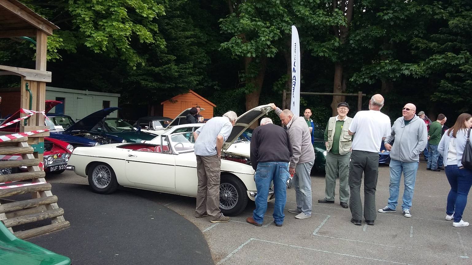 MG's on display at Victor Seymour Classic Car Show 2018